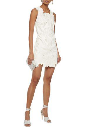 Halston Heritage Woman Broderie Anglaise Mini Dress Ivory