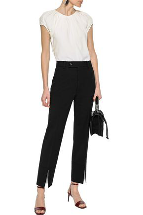 Helmut Lang Woman Pleated Woven Blouse White
