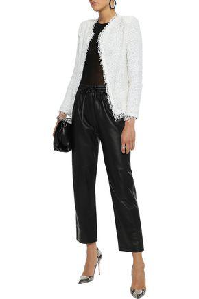 Iro Woman Shavani Frayed Cotton-blend Bouclé-tweed Jacket Off-white