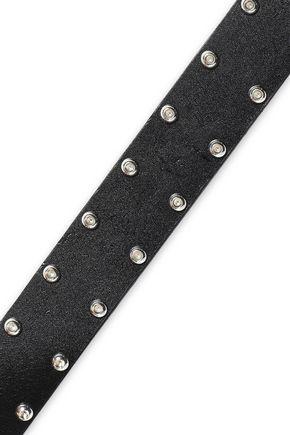 Iro Woman Enezi Studded Leather Belt Black