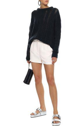 Iro Woman Fineti Gathered Canvas Shorts Ivory