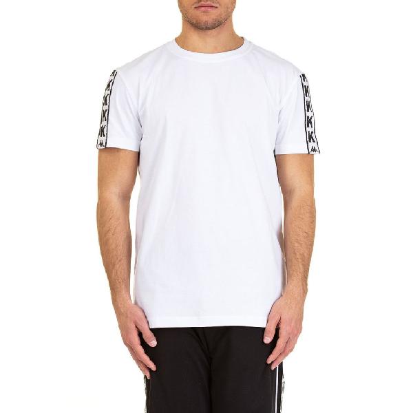 Kappa Logo Tape Trim T-shirt In White