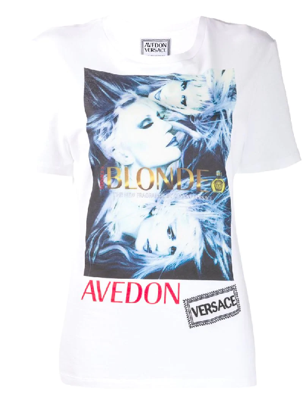 Versace Graphic Print T-Shirt - 白色 In White