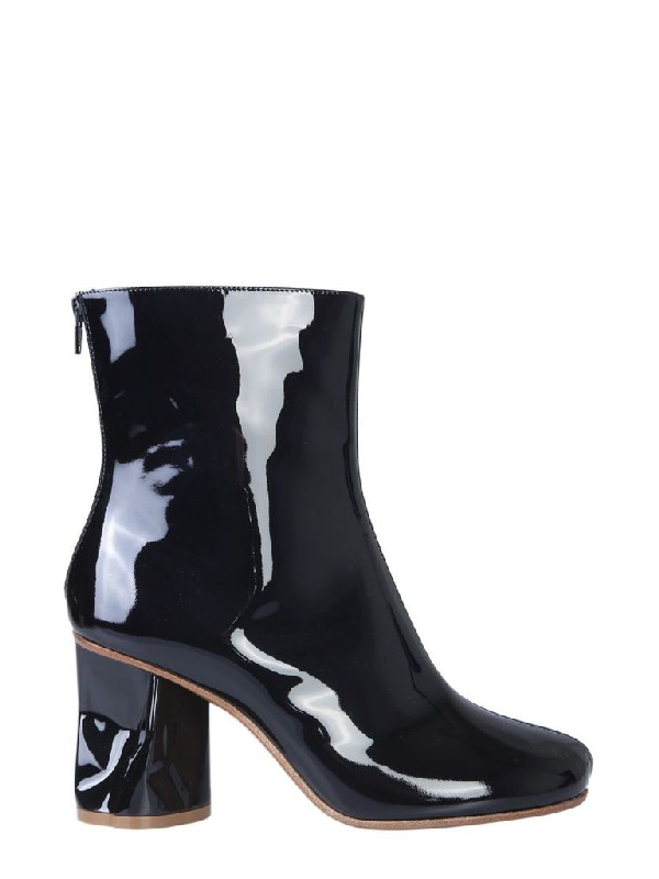 Maison Margiela Ankle Boots With Crushed Heel In Black