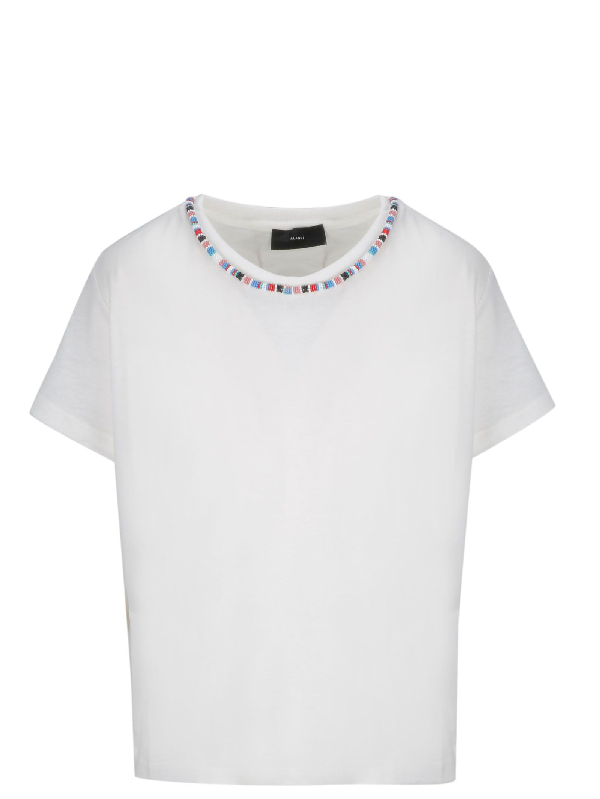 Alanui White Wool T-Shirt