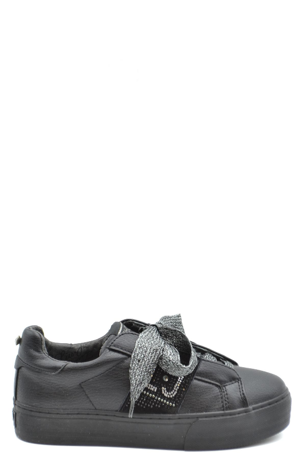 Pinko Black Leather Sneakers