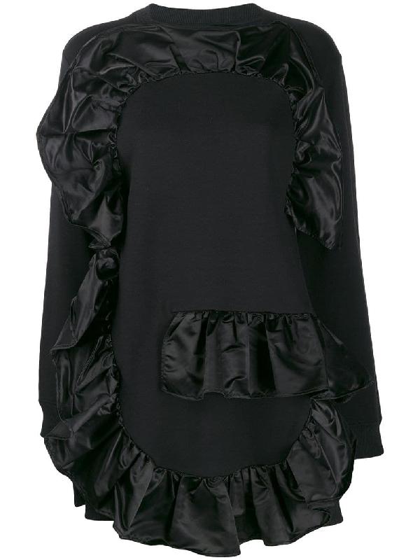 Mm6 Maison Margiela Black Cotton Sweatshirt