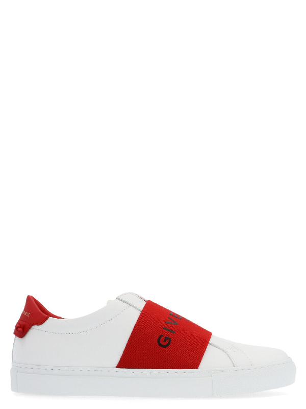 Givenchy Slip-on 5e01y Calfskin Logo Red White In 112 Red