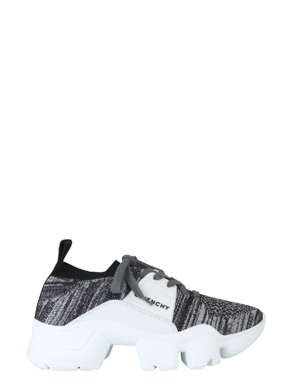 Givenchy Low-top Sneakers Jaw Knittet In 004 Blanc Noir