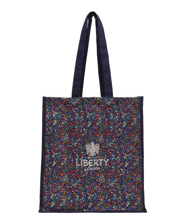 Liberty London Wiltshire Canvas Tote Bag In Navy