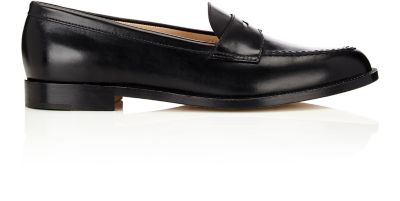 Manolo Blahnik Vazca Penny Loafers In Black
