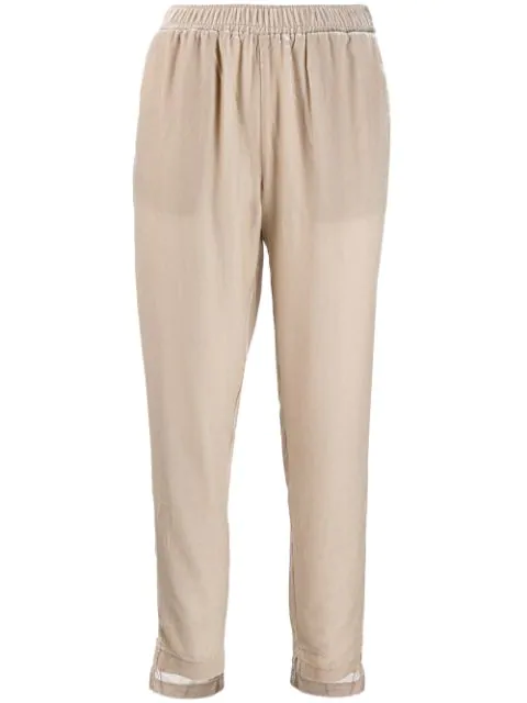 Gold Hawk Cropped Pull-on Trousers In Neutrals
