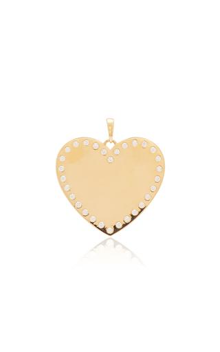 Ashley Mccormick Heart 18k Gold And Diamond Necklace