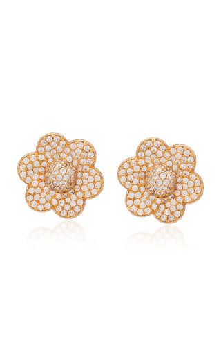 Ashley Mccormick 18k Gold And Diamond Earrings
