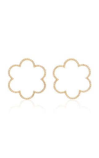 Ashley Mccormick Amelie 18k Gold And Diamond Hoop Earrings