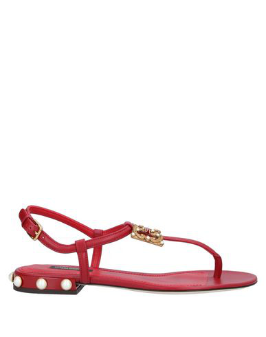 Dolce & Gabbana Flip Flops In Red