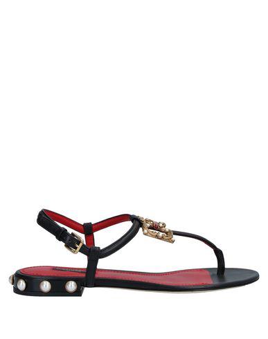 Dolce & Gabbana Flip Flops In Black