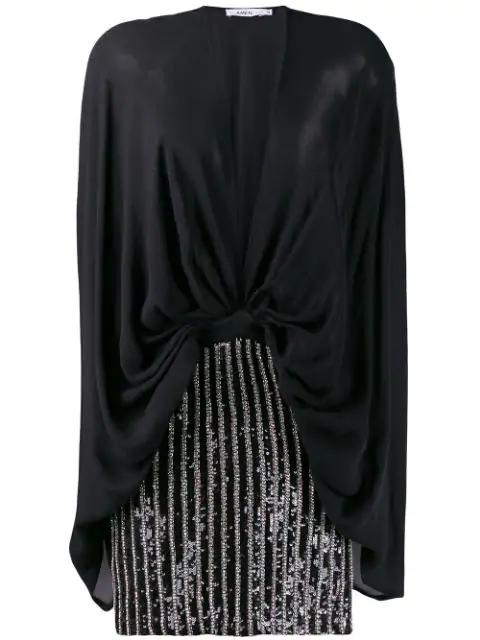 Amen Deep V-Neck Party Dress In Black