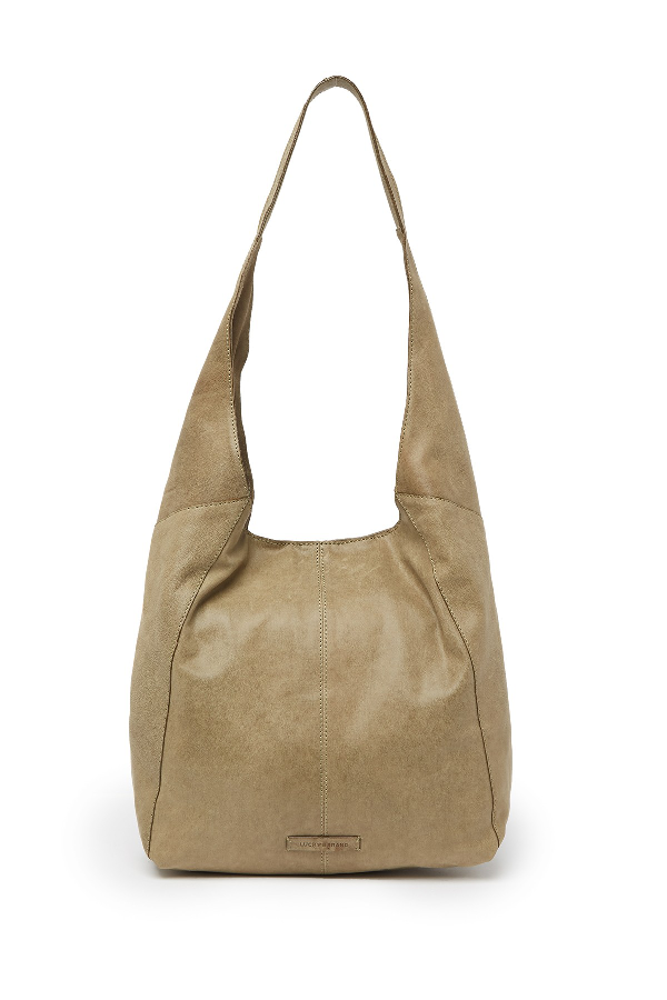 Lucky Brand Patti Leather Hobo Shoulder Bag In Ltgreen 09