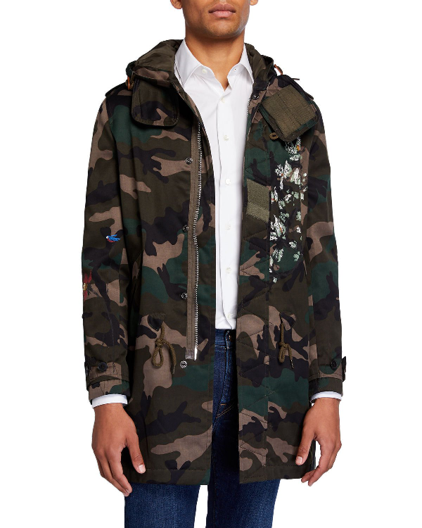 Valentino Men's Printed Camo Hooded Jacket In Multi Pattern