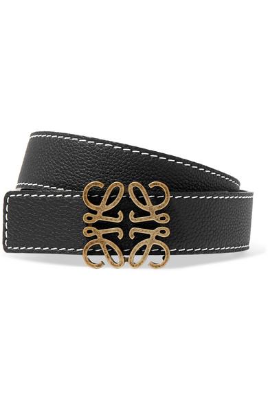 Loewe Anagram-buckle Leather Belt In Tan