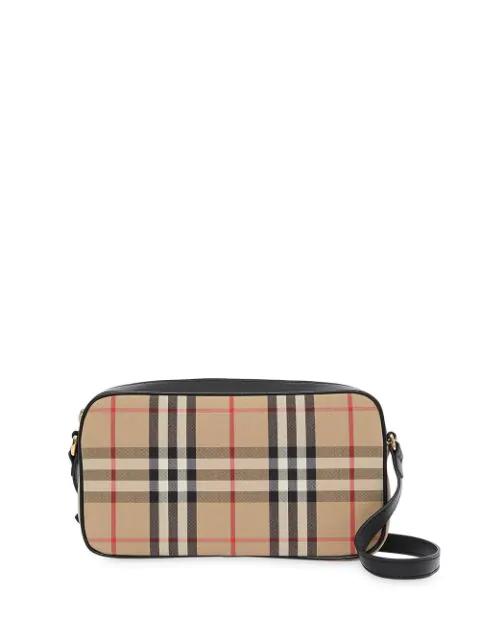 Burberry Small Vintage Check Ls Camera Bag Arc. Beige Shoulderbag In Neutrals