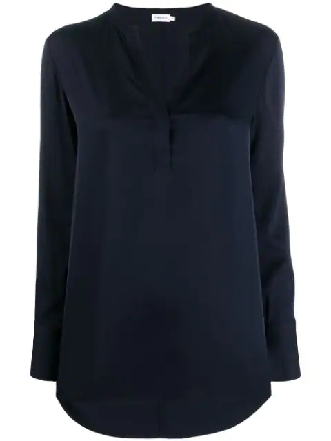Filippa K Pull-on Silk Blouse In Blue