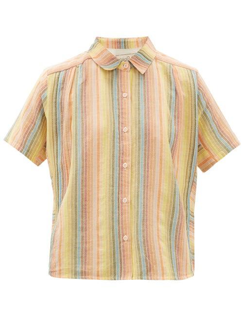 Ace & Jig Winnie Short-Sleeved Cotton Shirt In Multi