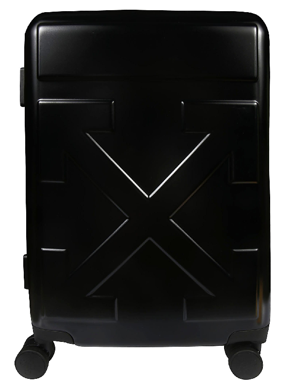 Off-White Arrow Suitcase In Nero