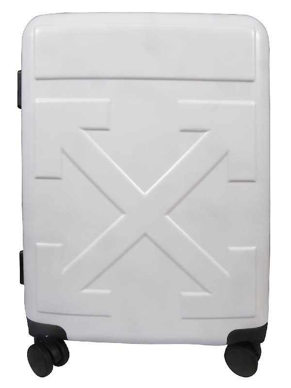 Off-White Arrow Suitcase In Bianco