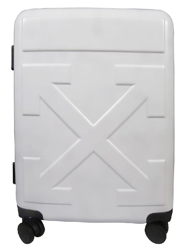 Off-white Arrow Suitcase In White