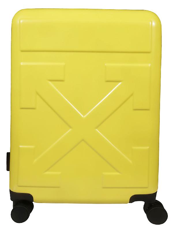Off-white Arrow Suitcase In Giallo