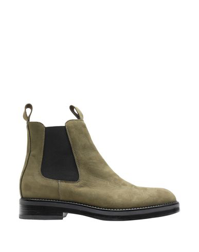 8 By Yoox Ankle Boot In Military Green