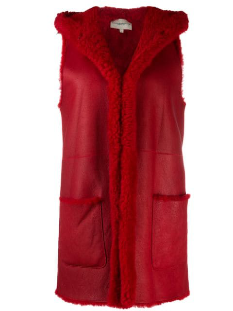 Holland & Holland Gilet-style Coat In Red