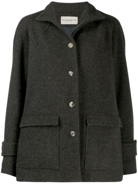 Holland & Holland Oversized Single-breasted Coat In Brown