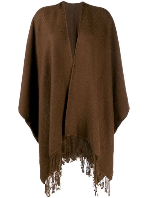 Holland & Holland Poncho-style Cape Coat In Brown