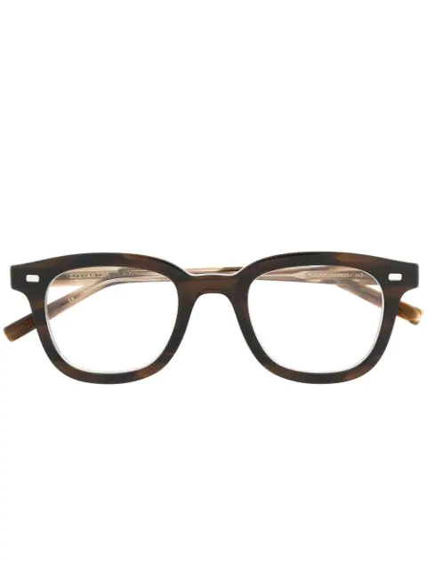 Eyevan7285 Tortoiseshell-effect Square Glasses In Brown