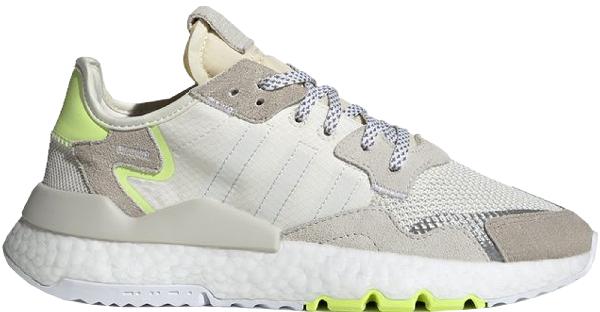 Adidas Originals Adidas Nite Jogger Off White Hi Res Yellow (w) In Off White/cloud White/hi-res Yellow