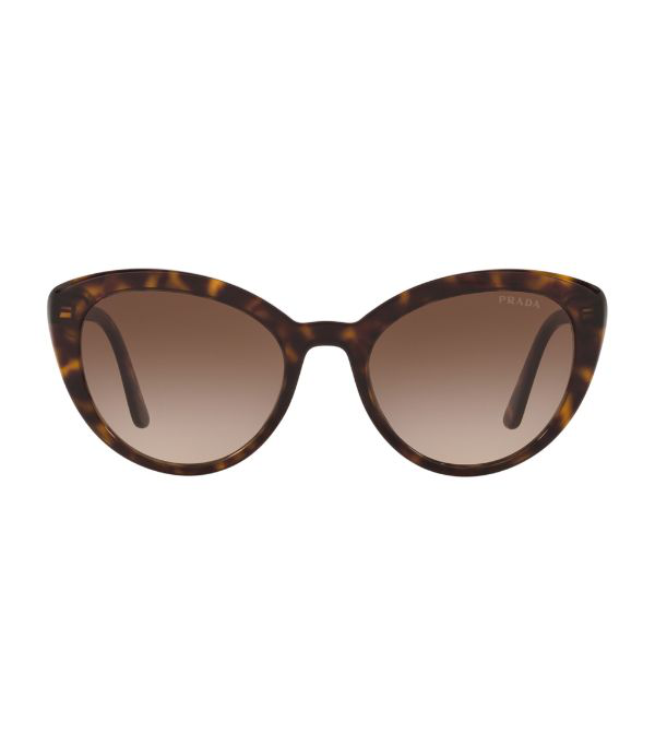 Prada 54mm Cat Eye Sunglasses - Havana/ Brown Gradient In Havana/brown Gradient