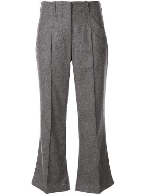Jejia Mia Cropped Trousers In Grey