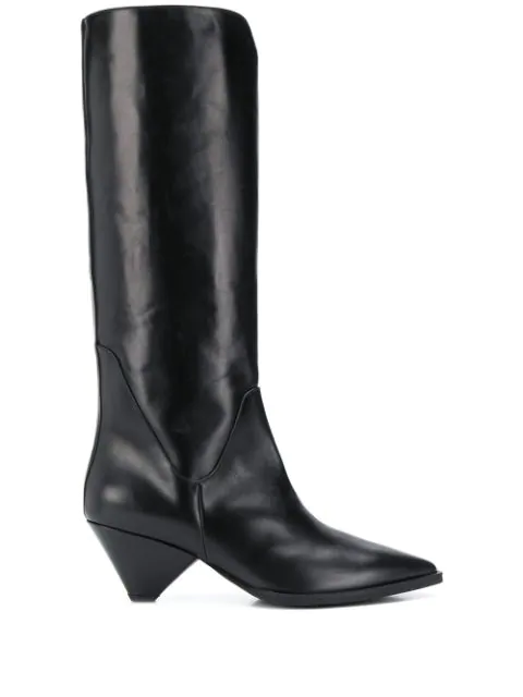 Christian Wijnants Anselm Mid-calf Boots In Black