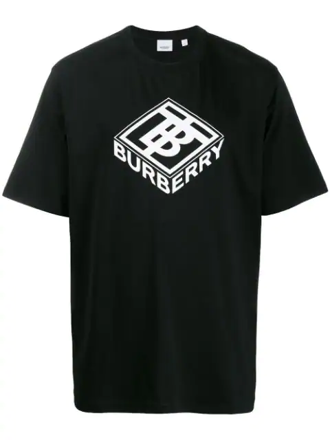 Burberry Ellison Logo-Print Cotton-Jersey T-Shirt In Black
