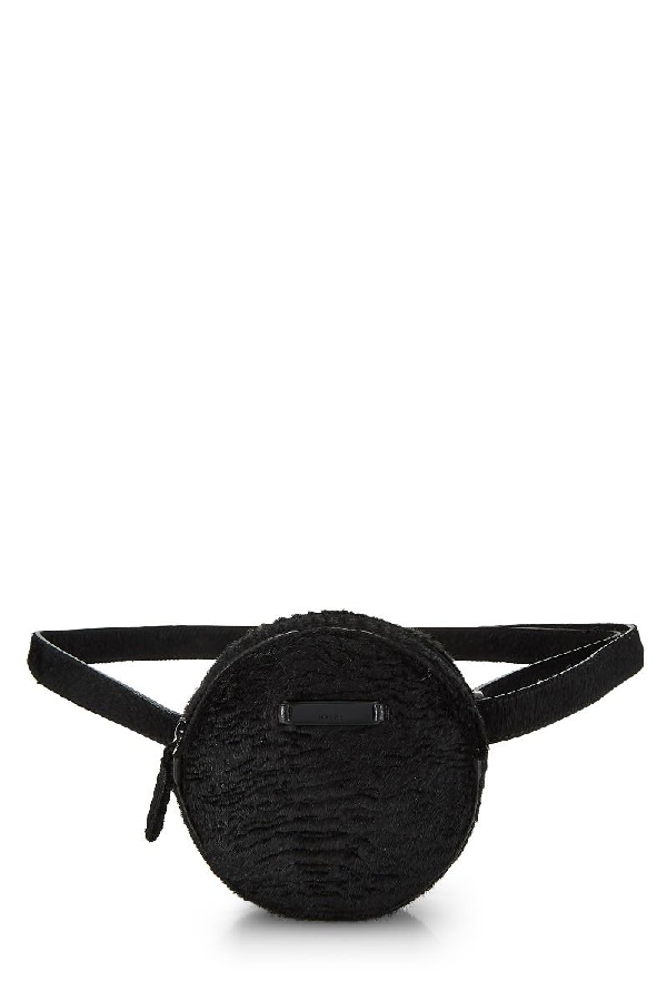 Prada Black Fur Belt Bag