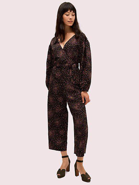 Kate Spade Disco Dots Jumpsuit In Black