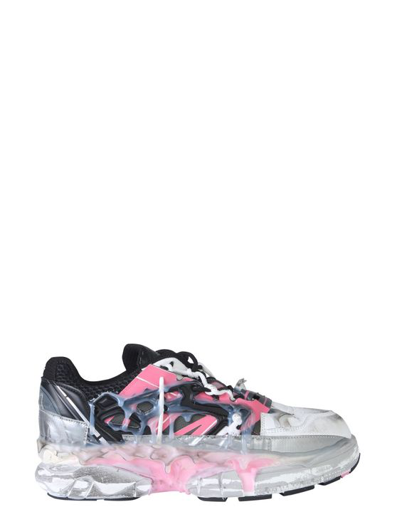 Maison Margiela Fusion Hand-painted Leather Low-top Trainers In White