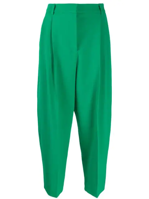 Stella Mccartney Tapered Tailored Trousers In Green