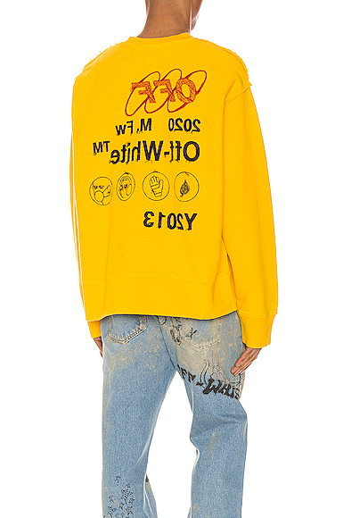 Off-White Industrial Logo-Intarsia Wool-Blend Sweater In Yellow