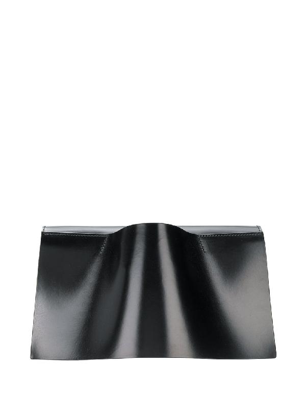 Venczel Vambrace Leather Clutch In Black