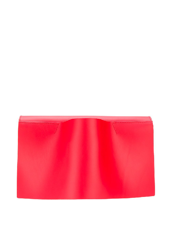 Venczel Vambrace Leather Clutch In Red