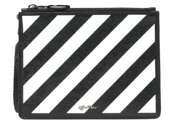 Off-white Double Pouch Diag Black White